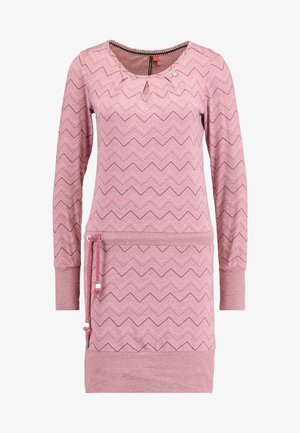 ALEXA ZIG ZAG - Jersey dress - rose