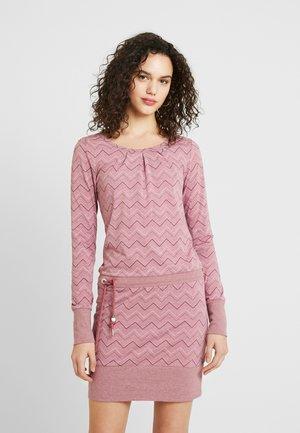 ALEXA ZIG ZAG - Jersey dress - rose