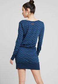 Ragwear - ALEXA ZIG ZAG - Vestito di maglina - denim blue - 3