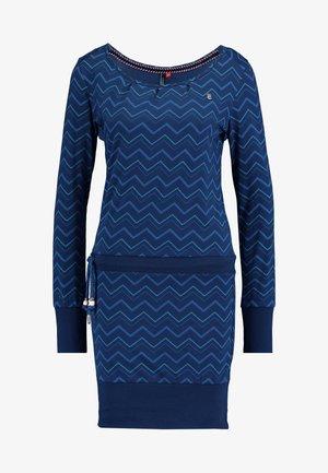 ALEXA ZIG ZAG - Jerseykjole - denim blue