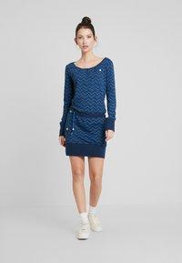 Ragwear - ALEXA ZIG ZAG - Vestito di maglina - denim blue - 2