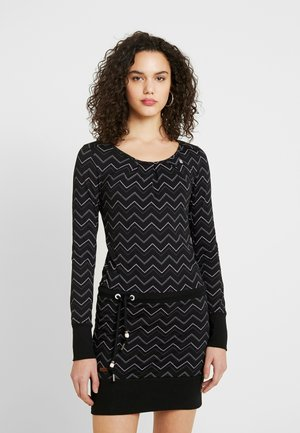 ALEXA ZIG ZAG - Jersey dress - black