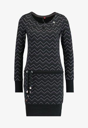 ALEXA ZIG ZAG - Vestito di maglina - black