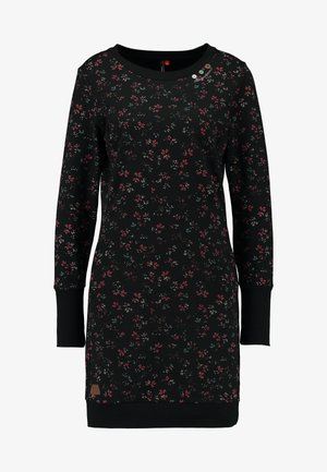 MENITA FLOWERS - Robe d'été - black