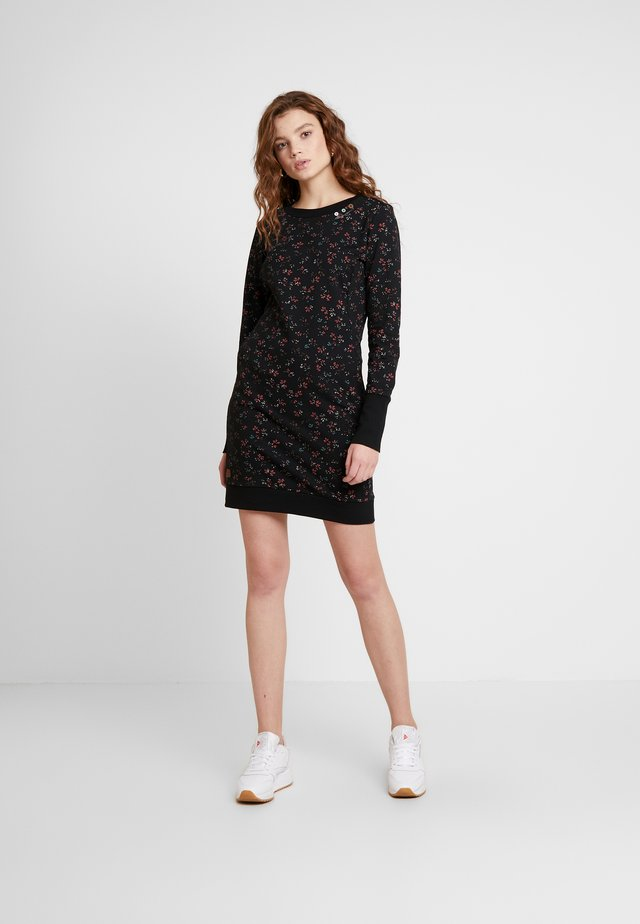 MENITA FLOWERS - Denní šaty - black