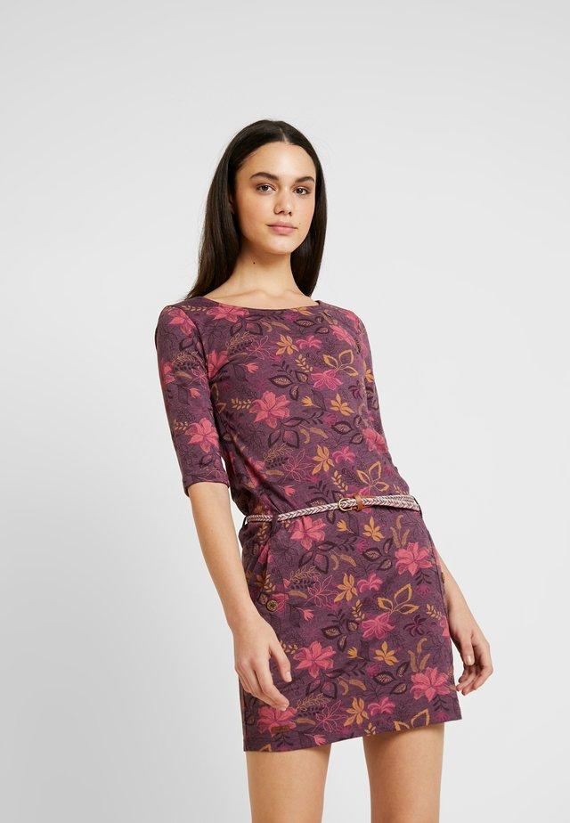 TANYA FLOWERS - Jerseyklänning - wine red