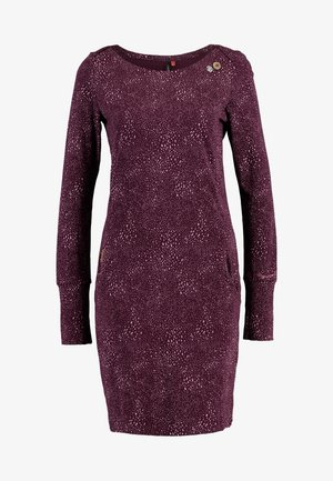 RIVER SPLASH - Shift dress - wine red