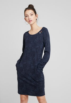 RIVER SPLASH - Robe fourreau - navy