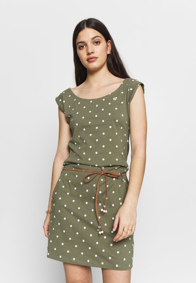 TAG DOTS - Day dress - olive