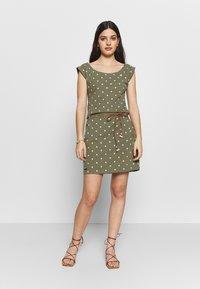 Ragwear - TAG DOTS - Vestido informal - olive - 1