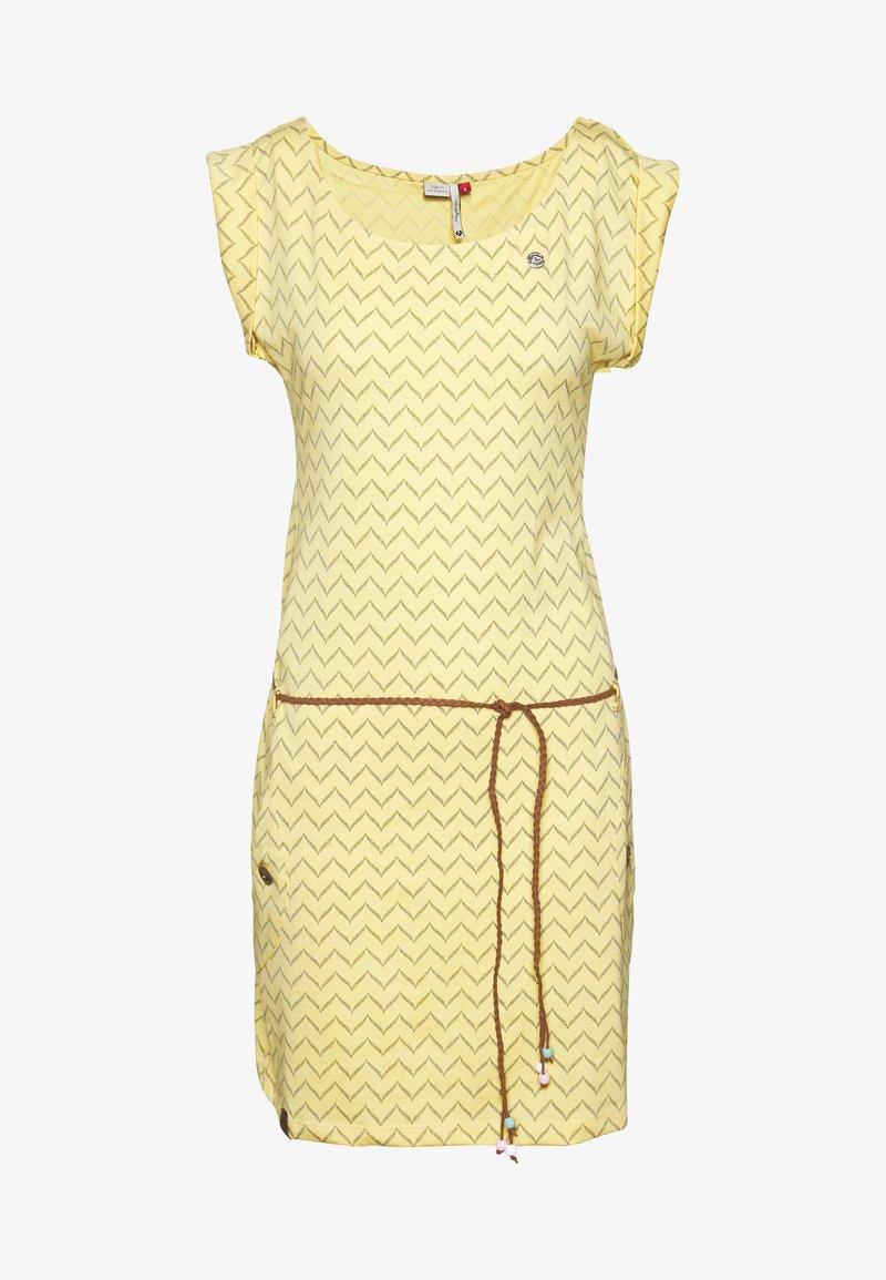 Ragwear - TAG ZIG ZAG - Žerzejové šaty - yellow