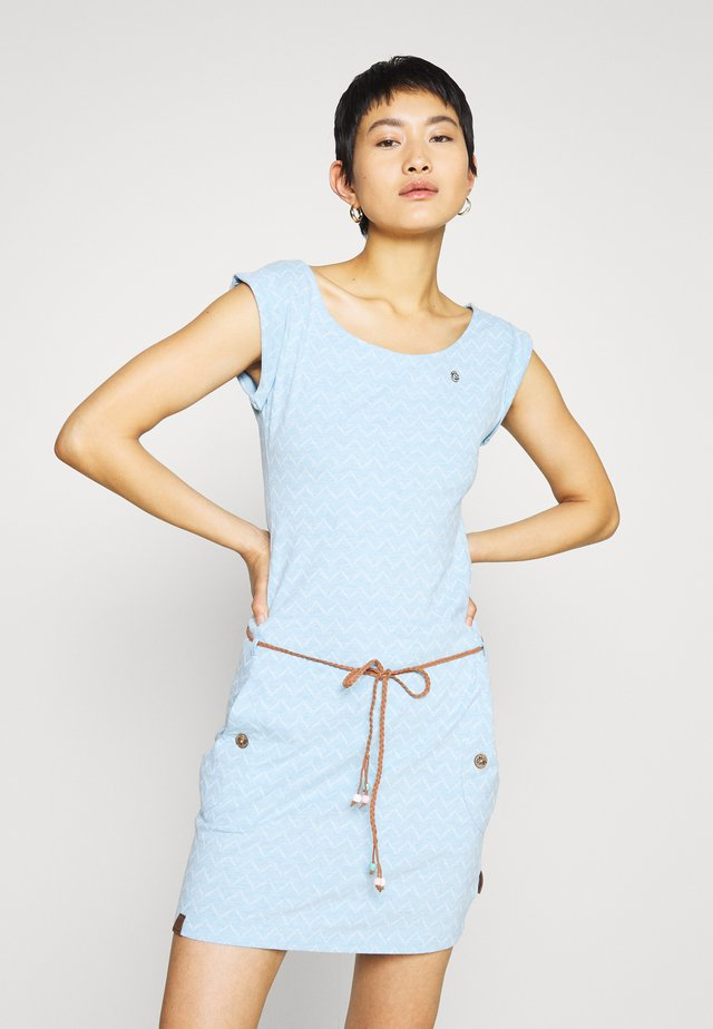 TAG ZIG ZAG - Jersey dress - blue