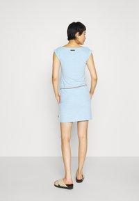 Ragwear - TAG ZIG ZAG - Vestido ligero - blue - 2