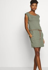 Ragwear - TAG ZIG ZAG - Jersey dress - olive - 4