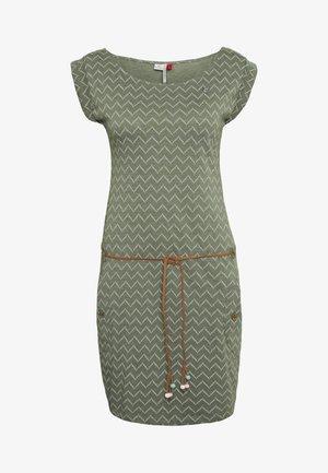 TAG ZIG ZAG - Vestido ligero - olive