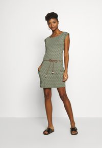 Ragwear - TAG ZIG ZAG - Jersey dress - olive - 1