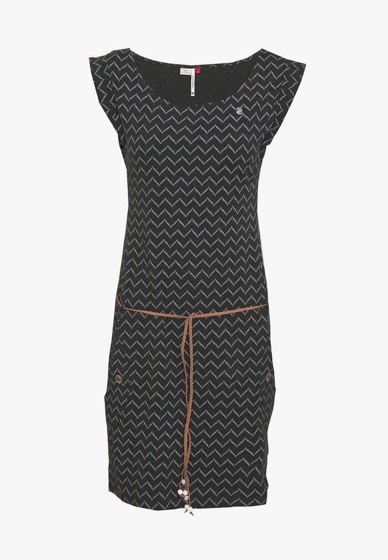Ragwear - TAG ZIG ZAG - Jersey dress - black