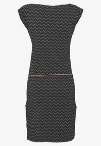 Ragwear - TAG ZIG ZAG - Jersey dress - black - 1