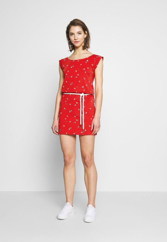 TAMY - Žerzejové šaty - red