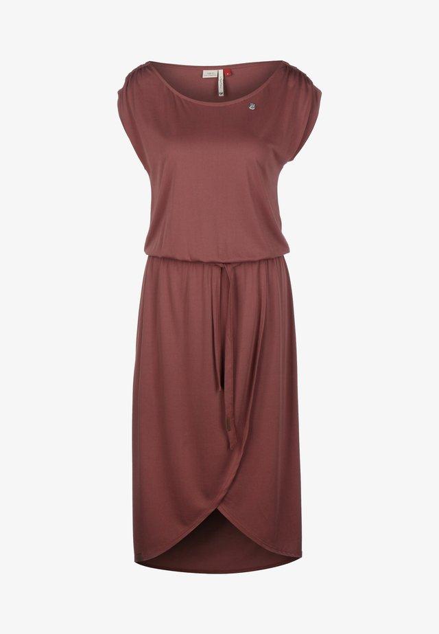 Gebreide jurk - terracotta