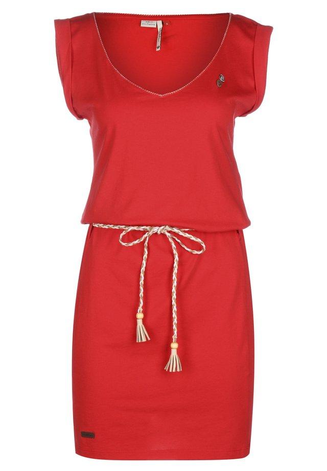 KLEID SLAVKA W - Jersey dress - red