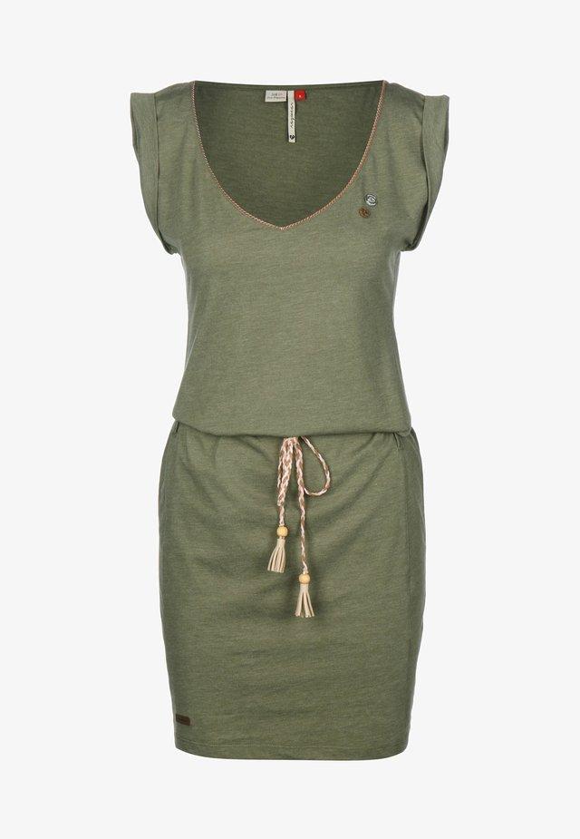 KLEID SLAVKA W - Jersey dress - olive