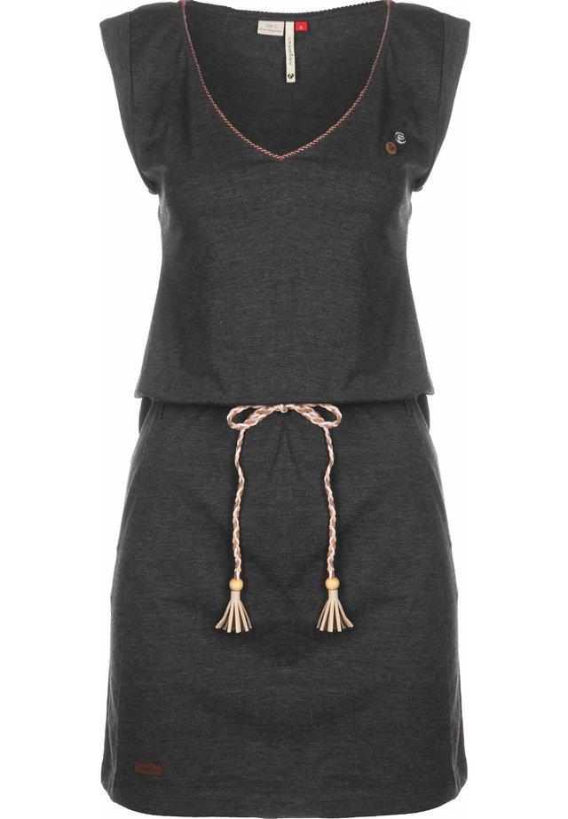 KLEID SLAVKA W - Jersey dress - black