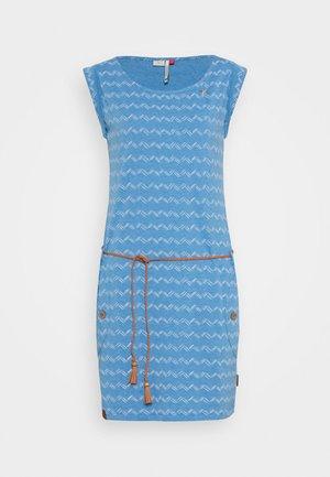 TAG ZIG ZAG - Korte jurk - blue