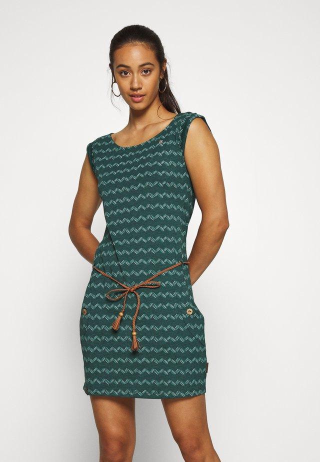 ZIG ZAG - Jerseyklänning - dark green