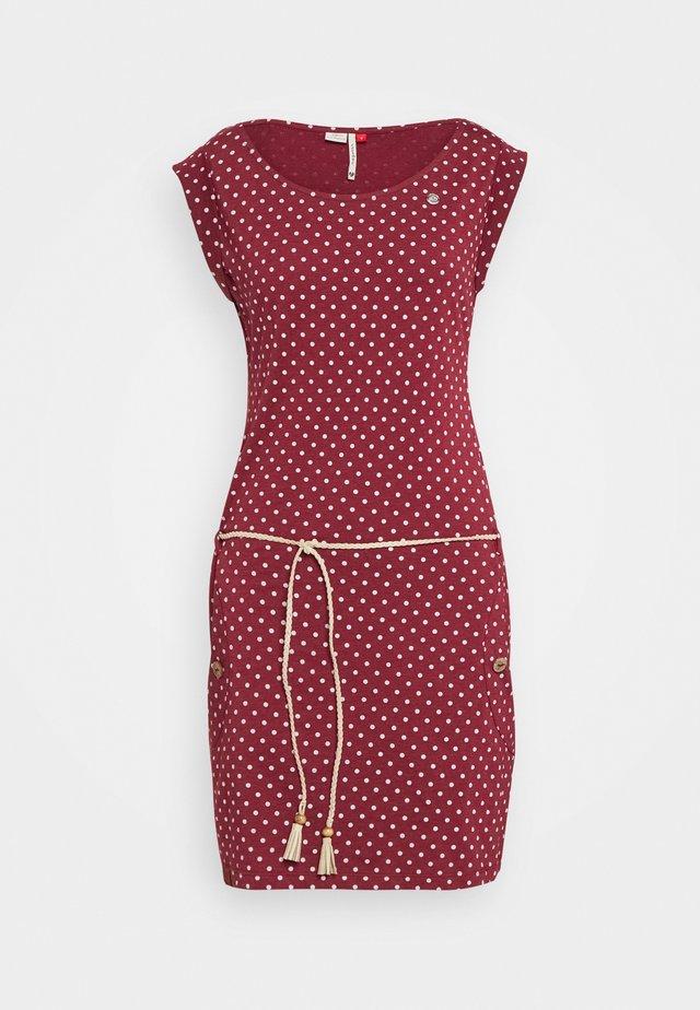 TAG DOTS - Sukienka z dżerseju - wine red