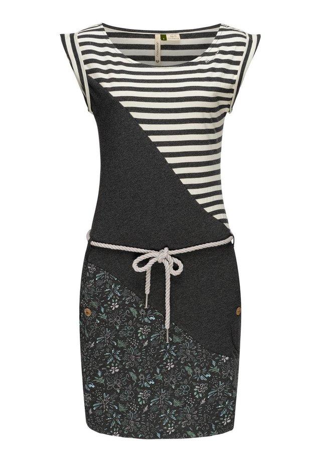 Jerseykleid - schwarz20
