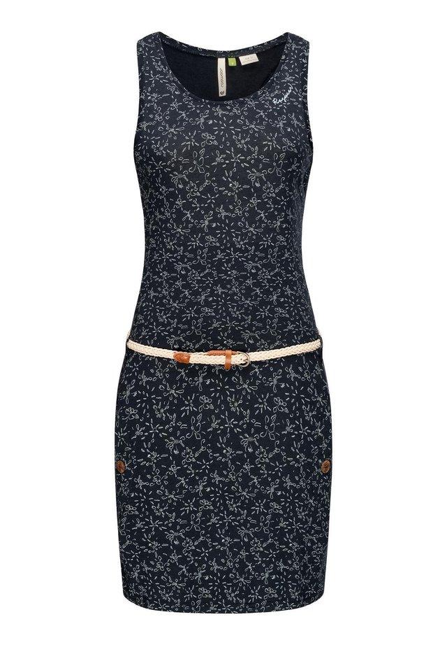 Korte jurk - blau20