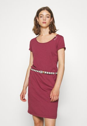 MONTANA  - Jersey dress - wine red