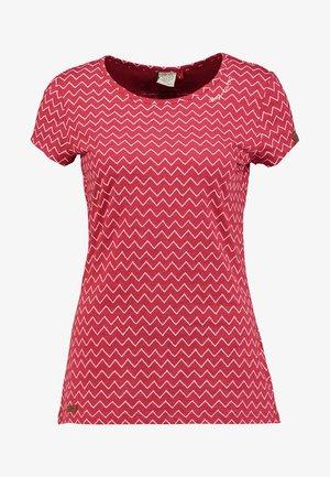 MINT ZIG ZAG - Print T-shirt - red