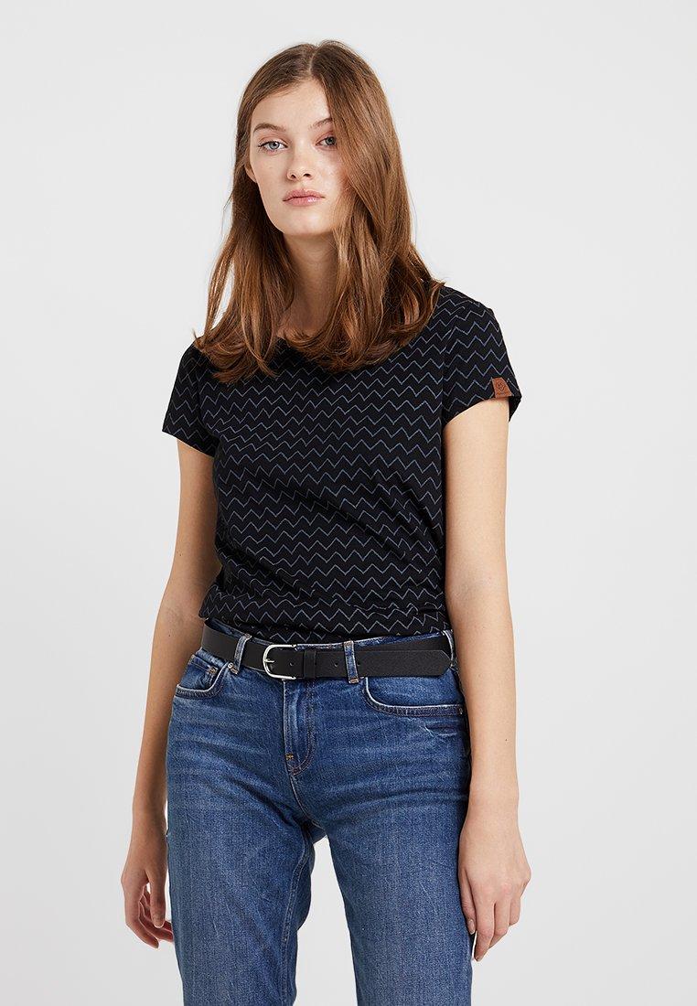 Ragwear - MINT ZIG ZAG - T-Shirt print - black