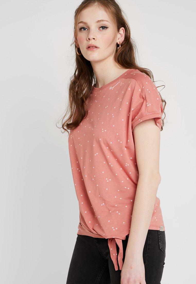 Ragwear - BOLIVIA ORGANIC - Camiseta estampada - dusty red