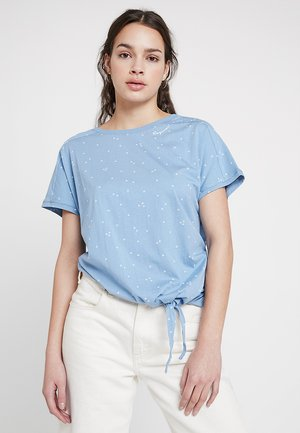 BOLIVIA ORGANIC - Print T-shirt - dusty blue