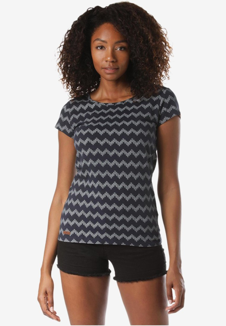 Ragwear - MIT ZIG ZAG  - T-Shirt print - blue