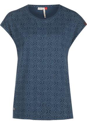 DIONE - Print T-shirt - denim blue