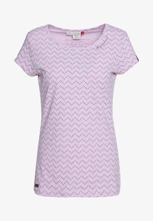ZIG ZAG - T-shirt print - pink