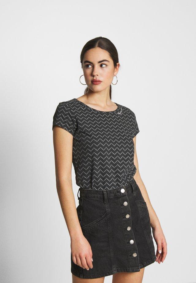 ZIG ZAG - T-Shirt print - black