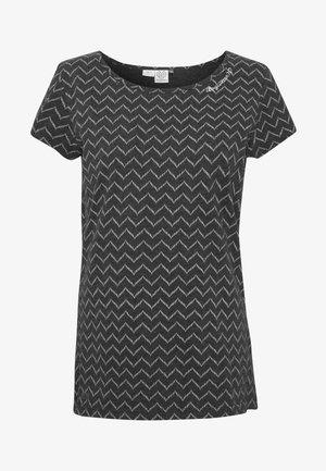 ZIG ZAG - T-shirt con stampa - black
