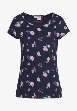 MINT FLOWERS - T-shirt imprimé - navy