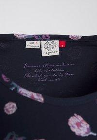 Ragwear - MINT FLOWERS - Print T-shirt - navy - 2