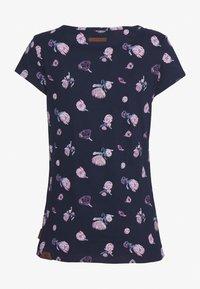 Ragwear - MINT FLOWERS - Print T-shirt - navy - 1