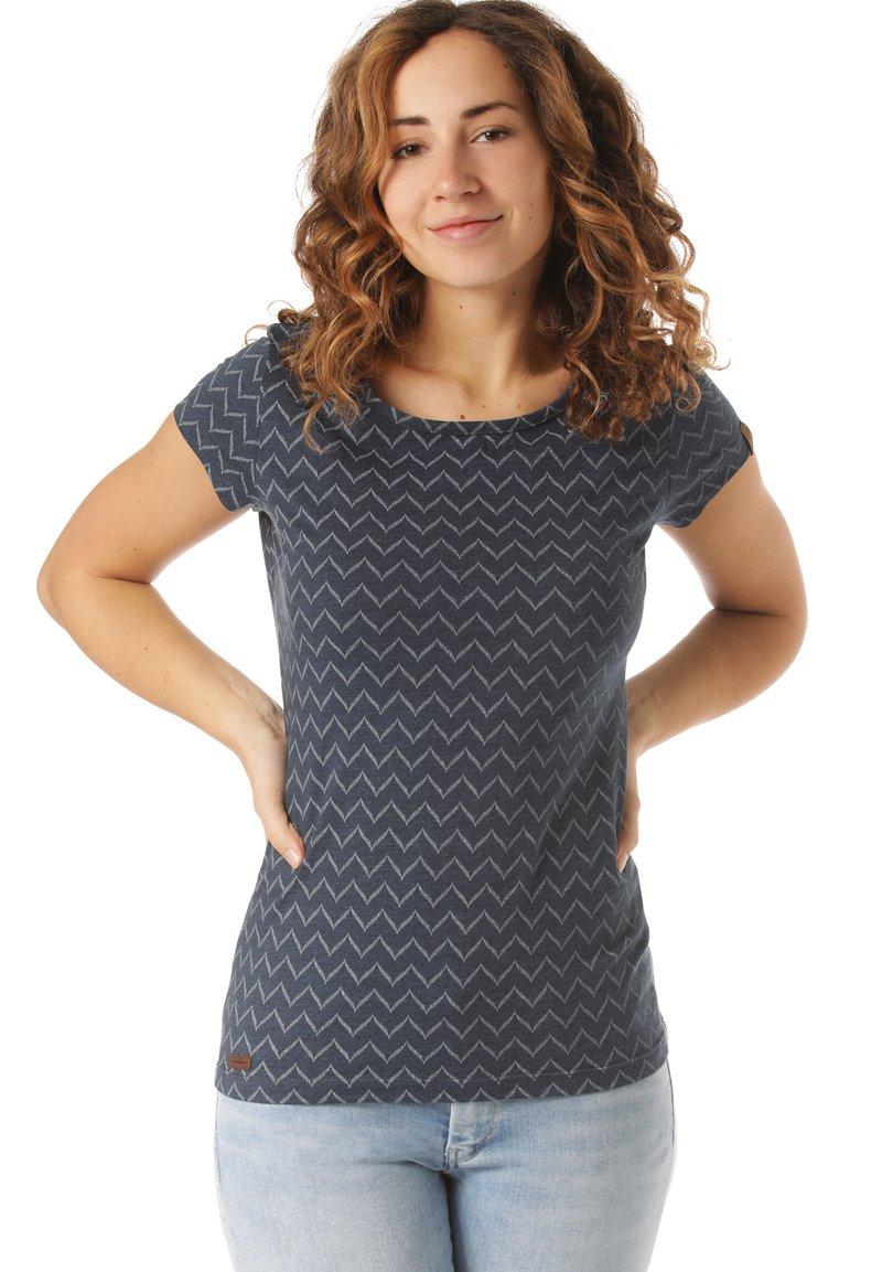 Ragwear - RAGWEAR T-SHIRT MINT ZIG ZAG - Print T-shirt - blue