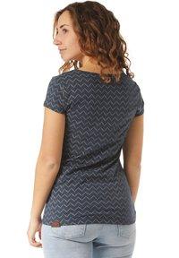 Ragwear - RAGWEAR T-SHIRT MINT ZIG ZAG - Print T-shirt - blue - 1