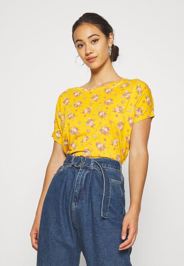 PECORI - T-shirt z nadrukiem - yellow
