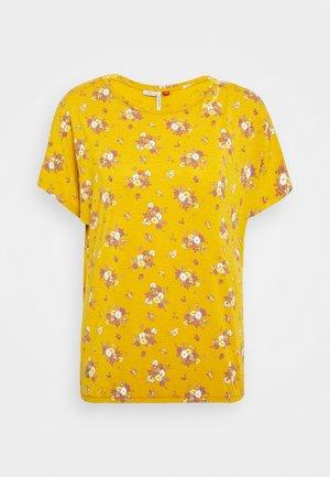 PECORI - Print T-shirt - yellow