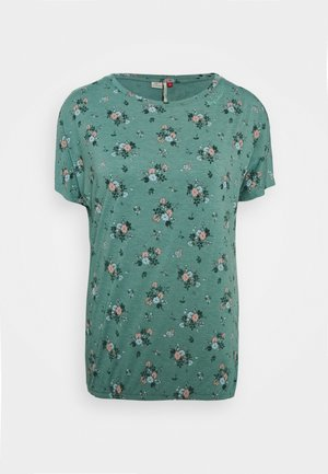 PECORI - Print T-shirt - dusty green